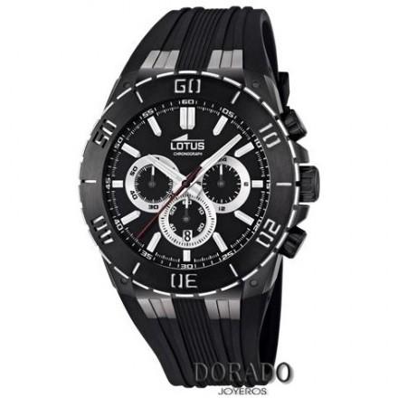 Reloj Lotus hombre deportivo caucho negro - 15802/3
