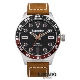 Reloj Superdry hombre piel marron - SYG143T