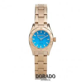 Reloj Superdry mujer dorado fondo turquesa-SYL158UGM