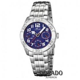 Reloj Lotus niño acero fondo azul marino 15831/2