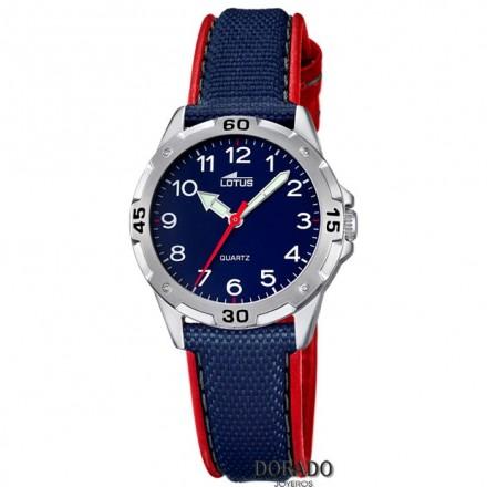 Reloj Lotus niño correa azul y roja - 18169/2