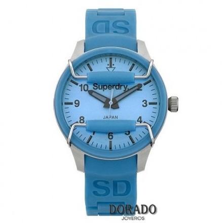 Reloj Superdry silicona azul SYL120AU