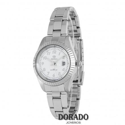 Reloj Marea plateado fondo blanco B36113/1