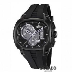 Reloj Lotus hombre deportivo caucho negro 15755/4