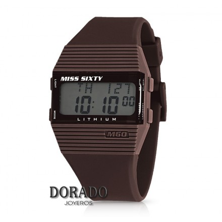 Reloj MISS SIXTY digital caucho marron sic009