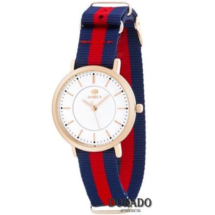 Reloj Marea mujer correa azul y roja B21165/3