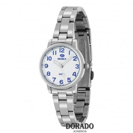 Reloj Marea niña plateado fondo blanco B21166/2
