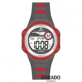 Reloj Marea niño caucho negro y rojo b25131/1