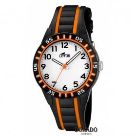 Reloj Lotus niño caucho negro naranja 18172/3