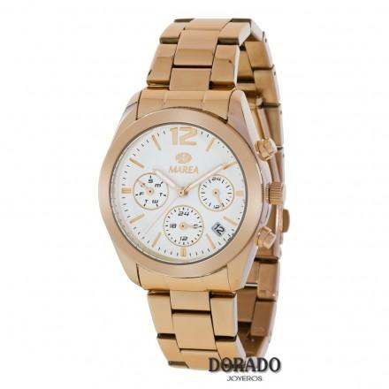 Reloj Marea ip oro rosa fondo blanco B41165/3
