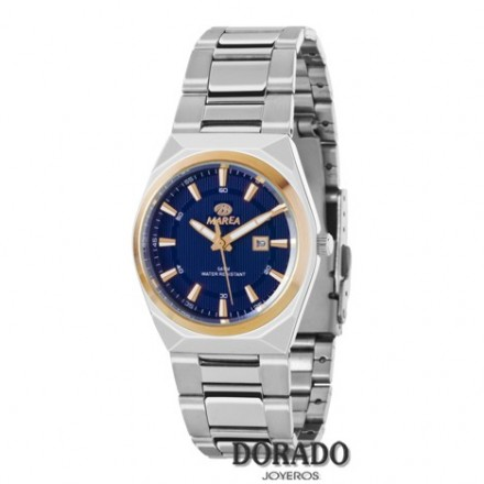 Reloj Marea plateado fondo azul marino B36114/2