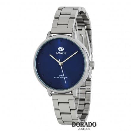 Reloj Marea plateado fondo azul marino B41168/2