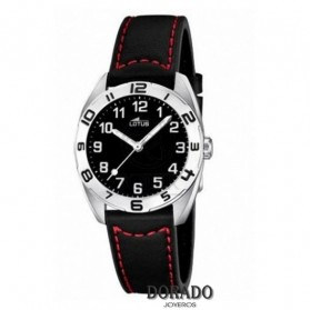 Reloj Lotus niño piel negra y roja 15942/3