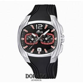 Reloj Lotus hombre caucho negro 15756/6