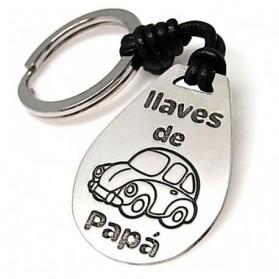 LLAVERO CUERO Y PLATA LAS LLAVES DE PAPA