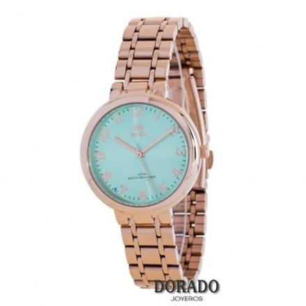 Reloj Marea IP oro rosa fondo verde mar 41190/11
