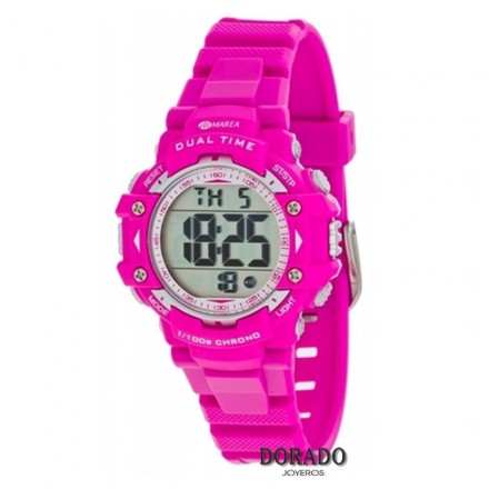 Reloj Marea niña caucho fucsia digital b40181/4