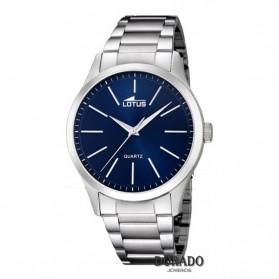 Reloj Lotus hombre acero fondo azul 15959/7