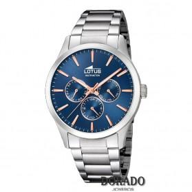 Reloj Lotus hombre acero fondo azul 18575/5