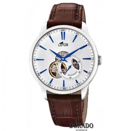 Reloj Lotus hombre automatico piel marron 18536/2
