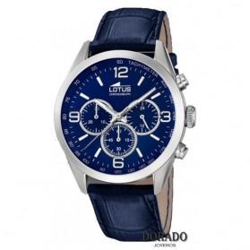 Reloj Lotus hombre correa piel azul 18155/4