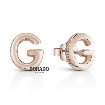 PENDIENTES GUESS G IP ORO ROSA - UBE83017