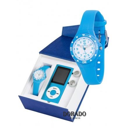 Reloj Marea caucho azul - B25118/21