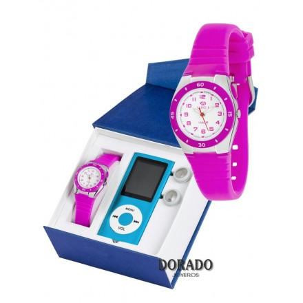 Reloj Marea niña caucho fucsia - B25115/20
