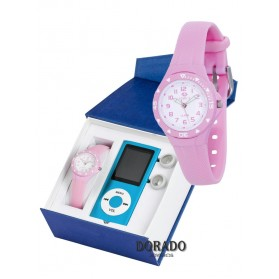 Reloj Marea niña caucho rosa B25118/20
