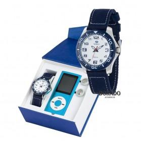 Reloj Marea niño correa nailon azul - B35280/3