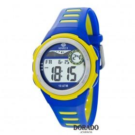 Reloj Marea niño caucho azul y amarillo B25131/3