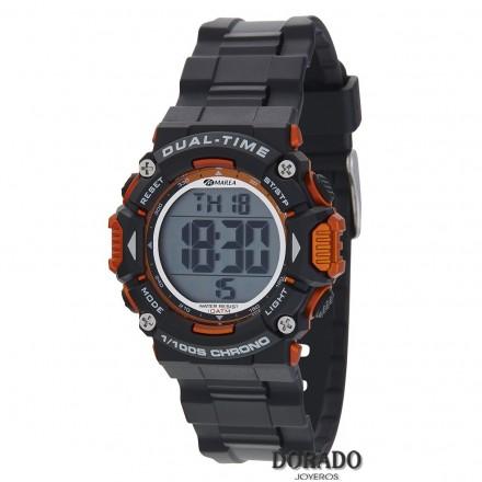 Reloj Marea niño caucho negro y naranja - B40190/2