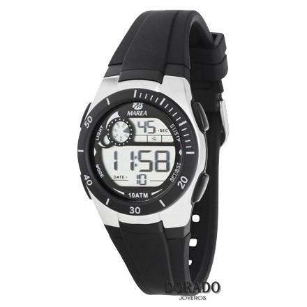 Reloj Marea niño caucho negro - B25114/1