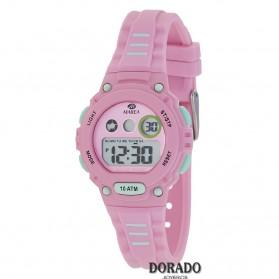 Reloj Marea niña caucho rosa y verde - B25156/1