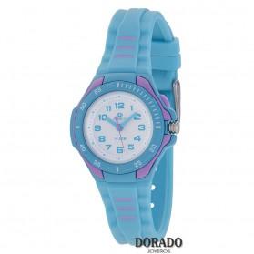 Reloj Marea niña caucho turquesa y lila - B25157/3