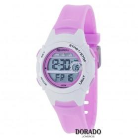 Reloj Marea niña caucho blanco y rosa - B40188/1