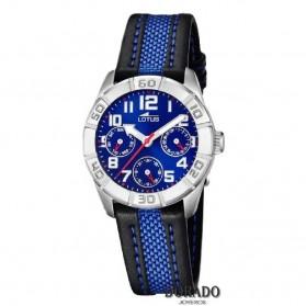 Reloj Lotus niño correa negra y azul - 15832/5