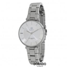 Reloj Marea mujer plateado fondo blanco - B54116/1