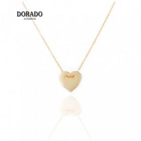 GARGANTILLA PLATA CORAZON DORADO - 244/00041
