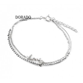 PULSERA PLATA DOBLE LOVE - 244/PU00131RH