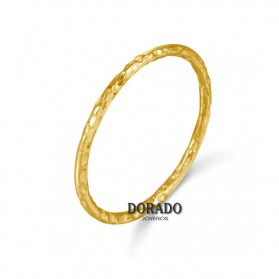 ANILLO PLATA DORADA TEXTURA - 244/01010586DO
