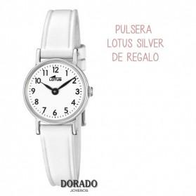 Reloj Lotus niña correa piel blanca 18409/1