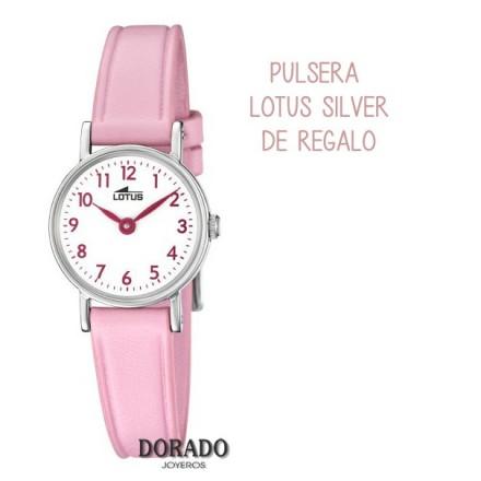 Reloj Lotus niña correa piel rosa 18409/2
