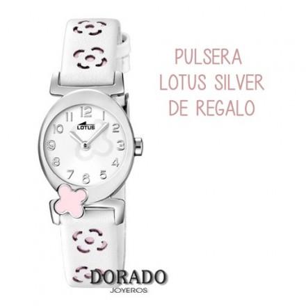 Reloj Lotus niña piel blanca flores 15949/2