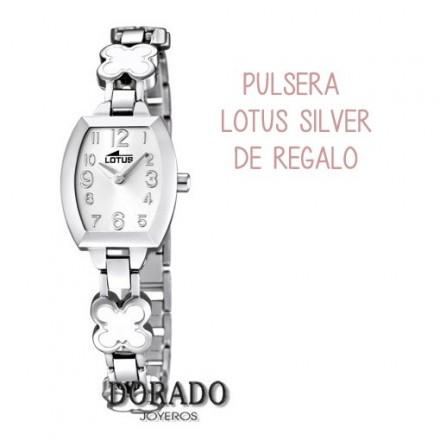 Reloj Lotus comunión niña acero flores blancas 15771/1