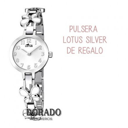 Reloj Lotus comunión niña acero mariposas blancas 15829/1