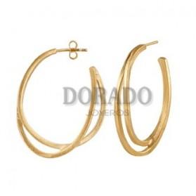 Pendientes Joid´art aros dorados dobles - J3173AR053200