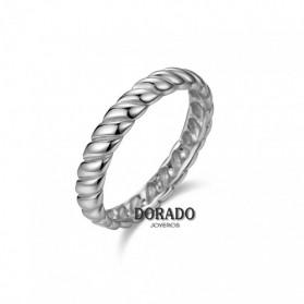 ANILLO PLATA RODIADA RIZADO - 244/AN00201RH