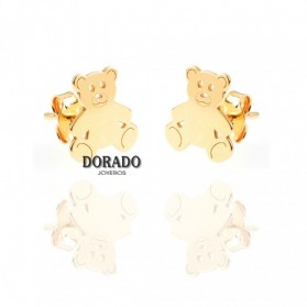 PENDIENTES PLATA DORADA OSITOS - 244/PE00225DO