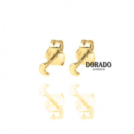PENDIENTES DORADOS MINI LUNA - 244/PE00134DO